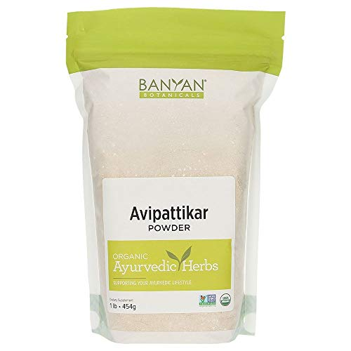 Banyan Botanicals Organic Avipattikar Powder - 1 lb - with Cardamom, Vidanga, Ginger - Traditional Ayurvedic Formula to Soothe The Digestive Tract*- Non-GMO Sustainably Sourced No Additives (Best Medicine For Acidity In India)
