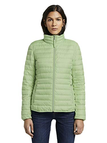 TOM TAILOR Damen Jacken & Jackets Leichte wattierte Steppjacke Light Pistachio Green,XL