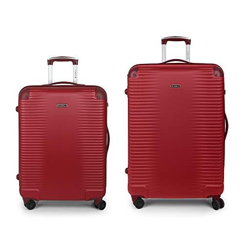 Set 2 koffers M-L Balance Gabol rood