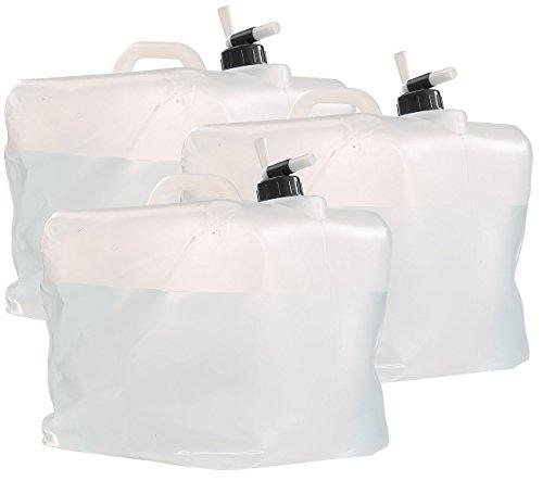 Semptec Urban Survival Technology Wasserkanister mit Hahn: 3er-Set Faltbare Wasserkanister mit Zapfhahn, 20 Liter (Faltbarer Wasserbehälter)
