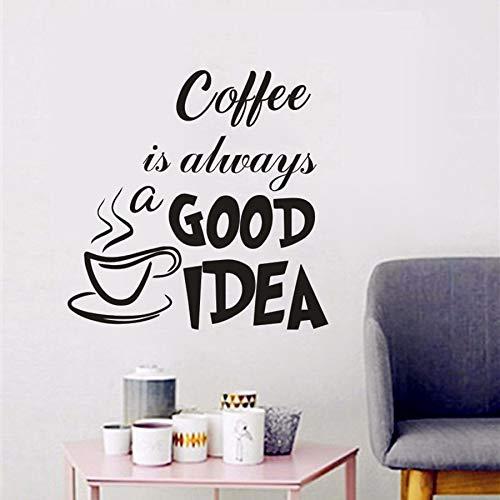 Tianpengyuanshuai koffie is altijd een goed idee. Muursticker keuken Cafe Shop logo vinyl sticker