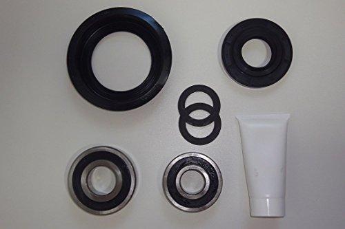 Blaufaust Trommellager Kugellager Reparatursatz für Miele Waschmaschine Novotronic W820 W914 W922 6305 RS 6306 RS Wellendichtung Simmering Tellerfedern RS Ausführung