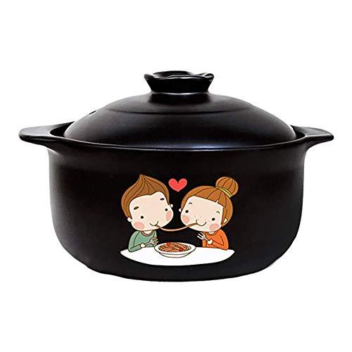 HPKC Casserole Kochgeschirr aus Keramik Geschirr Dutch Oven Antihaft-Pfanne, leicht zu reinigen, hochtemperaturbeständig, langlebig, Kapazität 3L