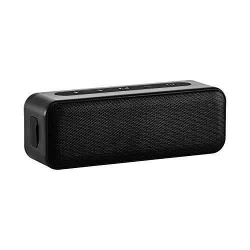 AmazonBasics – Bluetooth-Stereo-Lautsprecher mit wasserabweisendem Design, 15 W, Schwarz