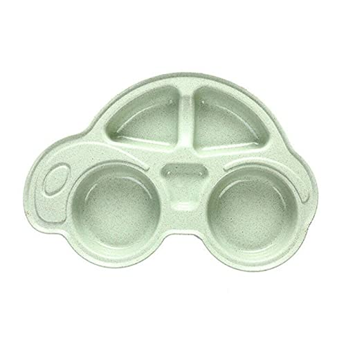 Baby 3 Pieces Tableware With Cartoon Car Shape Bowl, Fork and Spoon, Environmentally Separated Child Food Plates
