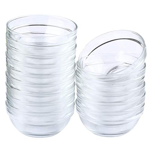 Maredash Mini Bowls 4 Inch Glass Bowls for Kitchen Prep, Dessert, Dips, and Candy Dishes ,4oz Stackable Dishware safe ,Set of 16 (combination)