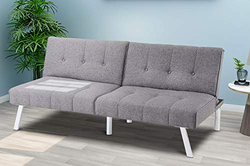 Sofa Bed Sofa Futon Convertible Futon Sofa Bed, Sofa Couch Adjustable Sleeper Sofa Recliner Couch Loveseat Living Room Furniture, Convertible Sofa for Compact Living Space, Apartment, Dorm, Office