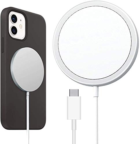OH Cargador Inalámbrico de Carga Magnética 15W para Iphone 12 Pro Max Charger Ligero y portátil.