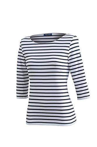 Saint James Garde-cote - Streifenshirt - Bretagne-Shirts (40 / T 42, Neige Navy)
