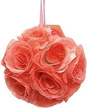Homeford Firefly Imports Pomander Flower Balls Wedding Centerpiece, 6-Inch, Coral,