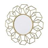 Your Home and Beyond - Espejo decorativo para colgar en la pared, diseño geométrico en 3D, color dorado