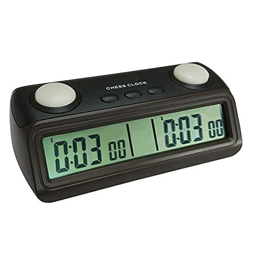 LHYCM Temporizador De Reloj De Ajedrez, Reloj De Ajedrez Digital con Función Plus Second, Temporizador De Juego De Mesa Profesional con Cuenta Regresiva para Los Amantes del Ajedrez