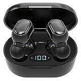 Welight Écouteurs sans Fil Bluetooth 5.0, Écouteurs Tactile pour Le Sport, IPX5 Étanche, Casque Micro intégré Premium et Basses Profondes Noir