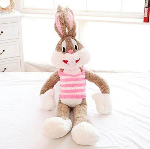 Cartoon Plush Bugs Bunny Pillow Doll Teddy Animal de Peluche Kawaii Doll para niños Parejas Regalo de cumpleaños 100cm Rosado