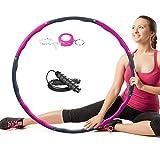 Hoola Hoop Fitness, Hula Hoop Adultos Desmontable con Espuma, Aro con cuerda de saltar de 3 m con espuma de aprox. 1,3 kg de peso