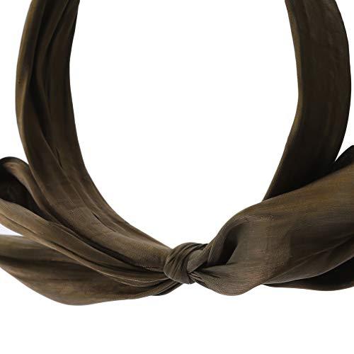 #N/A Growrak - Diadema plisada con lazo grande y ala ancha para el pelo, accesorio para el pelo, color verde oscuro