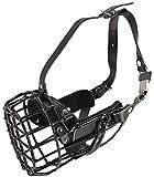 Bozal Dingo Gear K9 de goma de metal para perros, boxeo, perras, profesional, cómodo, universal, para paseos largos, S03043