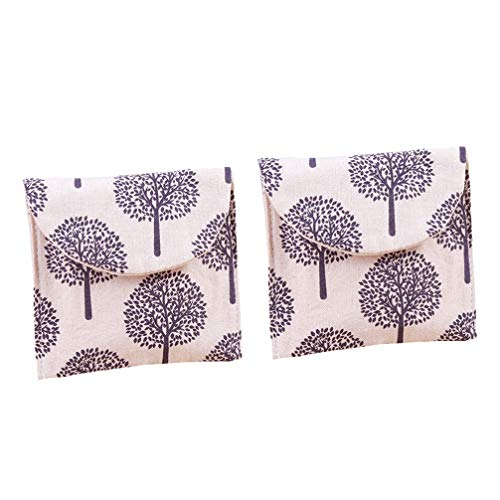 Cabilock 2 stücke damenbinde tasche menstruationstuch beutel tragbare papiertuchhalter kleine brieftasche geldbörse für home office reise (zufällige farbe)