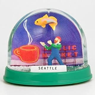 (9 7/18) Seattle Snow Globe Pike Place Colorful Globe