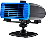 Car Heater Defroster, 1Windshield Defogger Defroster That Plug Into Cigarette Lighter,3 in 1 Auto Heater/Cooling Fan Car Windscreen Demister Heater with Purification for Winter(12V 15A Vehicle)