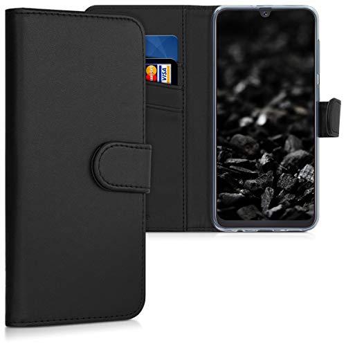 kwmobile Wallet Hülle kompatibel mit Samsung Galaxy A50 - Hülle Kunstleder mit Kartenfächern Stand in Schwarz