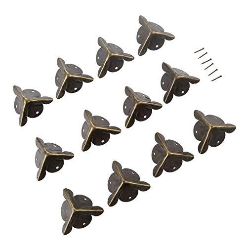 Rechtwinklige Halterung aus Metall 20Pcs 18mm / 25mm Eisen Dekorative Antik Schmuck Wein-Kasten-hölzernen Fall Corner Schutz-Schutz-Bronze Verzieren Sie Ihren Schreibtisch Box