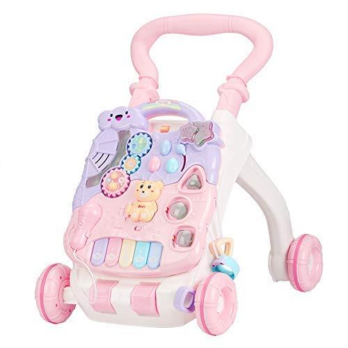 Baby-Kleinkind-Spaziergänger-Spielzeug-Multifunktionsbeleuchtungs-Musik-Geschichte justierbarer Zwei-in-eins, der Baby-Wanderer schiebt