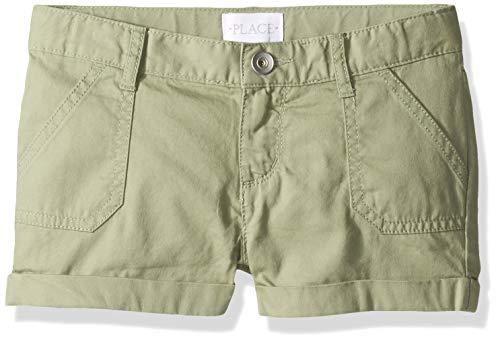 The Children's Place Big Girls' Plus Sized Denim Novelty Shorts, misty glen, 5 Plus
