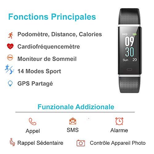Montre Connectée, Willful Bracelet Connecté Podometre Smartwatch Écran Couleur Etanche IP68 pour...