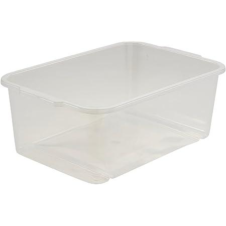 keeeper Storage Box, Sturdy Plastic (PP), 4.5 l, 30 x 20 x 11 cm, Transparent-Natural