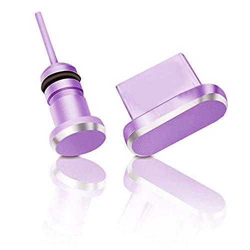 innoGadgets Staubschutz Stöpsel kompatibel mit PS5 Controller, Smartphone, MacBook, Laptop | USB-C Staubstecker, Schutz für jeden USB-C Anschluss - Samsung Galaxy S8, S9, S10, S10e, S20 u.v.m. | Lila