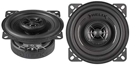 Helix F 4X - 10cm 2-Wege Koax Auto Lautsprecher/Boxen - 120 Watt Maximalleistung - Schwarz