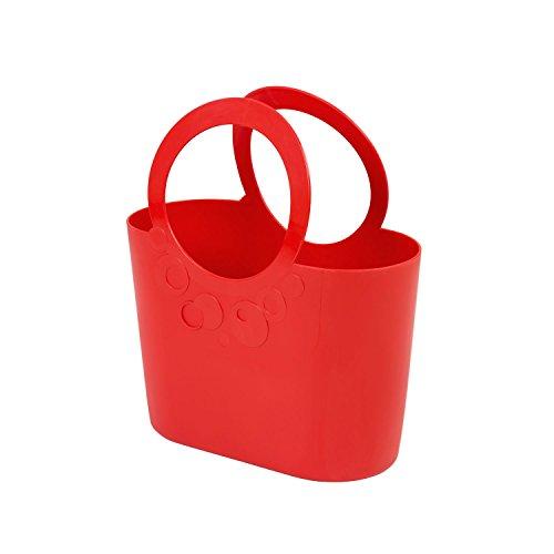 moderne Handtasche 6,4 L Picknickkorb rot Coral Size L Griffe Lily Strandtasche Tasche Basket