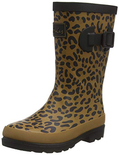 Joules Welly Print, Bota Niñas, Tan Leopard, 31 EU