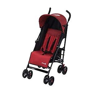 Safety 1st Rainbow Silla de Paseo ultraligera pesa solo 6,6 kg, Plegable y compacta, Reclinable de multi posiciónes, reposapiés adjustable, color red Chic