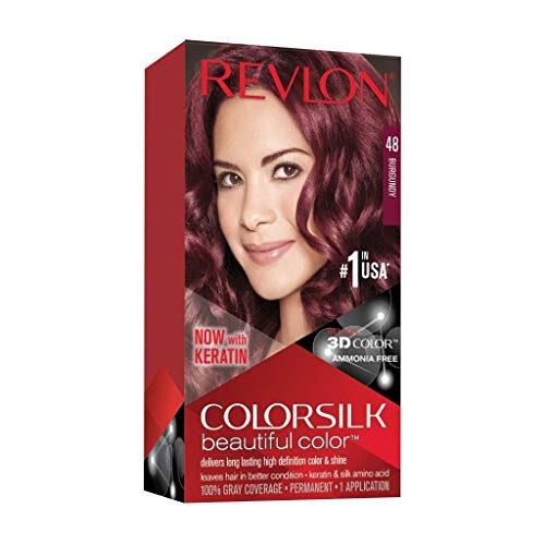 Revlon Coloration permanente Colorsilk Beautiful Color - Couleur radieuse longue tenue - Couleur 48 Bourgogne - 1 application