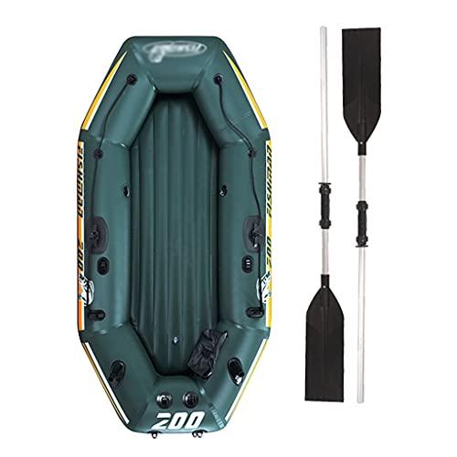ZXQZ Kayak Kayak Inflable para 2 Personas, Equipo de Navegación, Espesar Los Botes de Goma del Kayak de La Balsa para El Entretenimiento de La Pesca