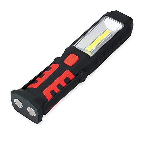 Led Lampe de Travail Mains Libres 3 + 1 Cob Lampe Torche Magnétique Flexible de Lampe 180 Degrés de Rotation pour Bricolage, le Bateau, Camping, Pêche de Nuit Lumière d'Urgence