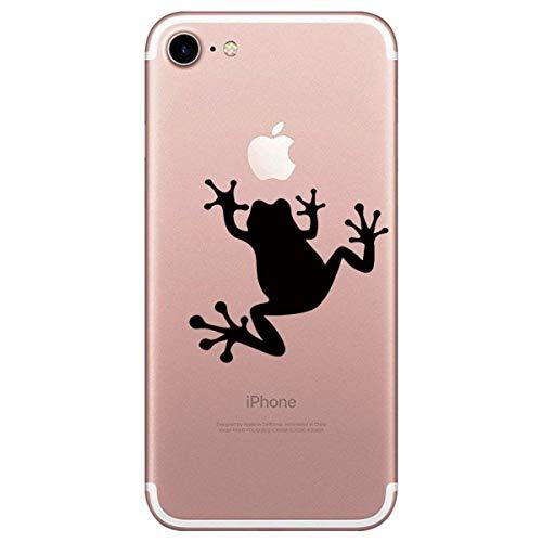 Alsoar ersatz für iPhone 7 Hülle Weiche Ultra dünn Slim Silikon TPU Handy-Hülle Crystal Durchsichtig Gel Hülle Clear Kratzfeste Stoßfest hohe Qualität Schutzhülle für iPhone 7 (Frosch)