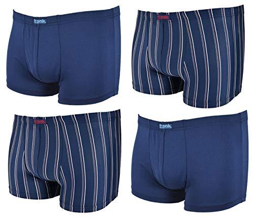 Frank Fields 4 Stück eng anliegende Retro Boxershorts •Marine Gr. 7/XL aus feinem Mikropolyester • anschmiegsam und atmungsaktiv