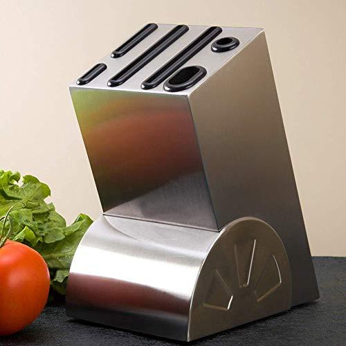 LJYY Portacuchillos (sin Cuchillo) Portacuchillos de Acero Inoxidable - Guarde el Cuchillo de Forma Segura Mientras Mantiene la Hoja Limpia y Afilada, Portacuchillos de Cocina Suministros de Cocina