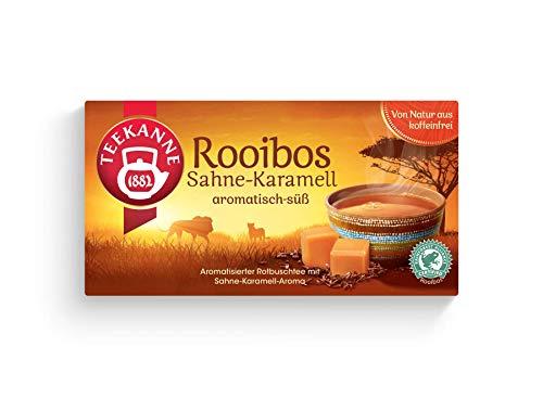 Teekanne Rooibos Sahne-Karamell 20 Beutel, 4er Pack (4 x 35 g Packung)
