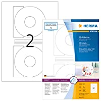 Herma 4471 116mm Colour Laser Paper Round Cd Labels - Matte White (200 Labels,