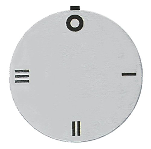 Küppersbusch Knebelsymbol für Elektroherd EHN601, EHN401, EHN801, EHN402, EHN602 Symbol Schalter 4-Takt silber Aussen 45mm