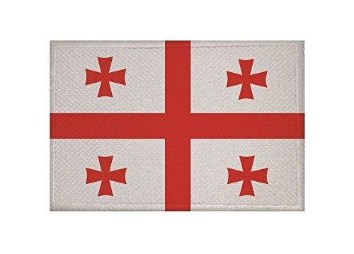 U24 Aufnäher Georgien Fahne Flagge Aufbügler Patch 9 x 6 cm