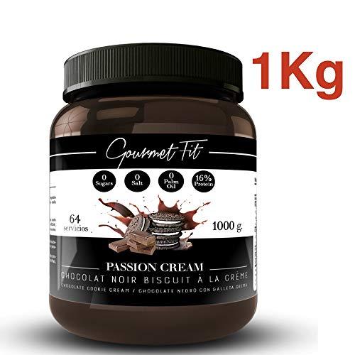 Kakao und Haselnusscreme Hyperproteic ohne Zucker oder gesättigte Fette - Ohne Palmzucker - 1KG-Format Unglaublicher Geschmack (Kekse)
