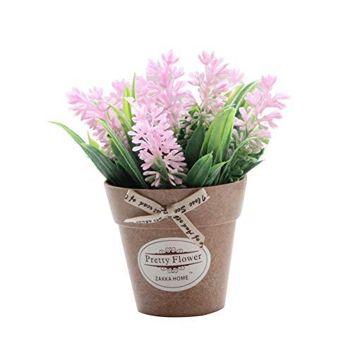 xMxDESiZ 1 pieza de decoración de bonsái artificial en maceta, decoración de jardín, boda, hogar, fiesta rosa