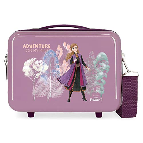 Disney Frozen Adventure Of My Mind Adaptable Toiletry Bag, Purple, 29 x 21 x 15 cm, Rigid ABS 9.14 L