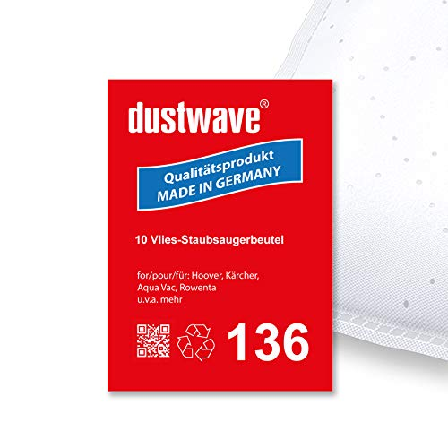10 bolsas para aspiradora (aprox. 20 L) adecuado para Lloyds – 821/535 de dustwave Microvlies de marca de bolsas de polvo – Fabricado en Alemania.
