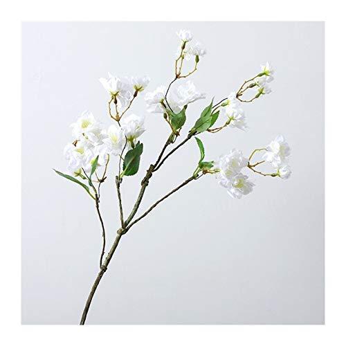 Pianta artificiale fiore di ciliegio fiori artificiali fiore di seta per una decorazione di nozze rosa decorazione casa (colore : 1)